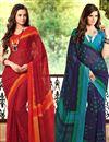 image of Vibrant Combo of 2 Casual Wear Printed Chiffon Sarees