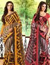 image of Chromatic Set of 2 Casual Print Chiffon Sarees