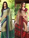 image of Beguiling Casual Wear Combo of 2 Chiffon Sarees
