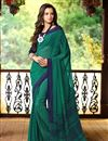photo of Luring Set of 2 Fancy Print Chiffon Sarees