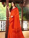 picture of Luring Set of 2 Fancy Print Chiffon Sarees