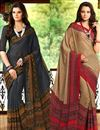 image of Dashing Combo of 2 Casual Wear Printed Chiffon Sarees