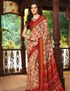 picture of Beautiful Fancy Print Combo of 2 Chiffon Sarees