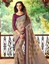 picture of Classy Set of 2 Fancy Print Chiffon Sarees