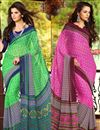 image of Appealing Casual Wear Combo of 2 Chiffon Sarees