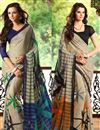 image of Enticing Fancy Print Combo of 2 Chiffon Sarees