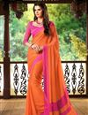 picture of Charming Set of 2 Fancy Print Chiffon Sarees