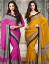 image of Chiffon Combo of 2 Party Wear Sarees
