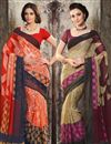 image of Dazzling Combo of 2 Designer Sarees