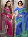 image of Pleasant Chiffon Combo of 2 Designer Sarees