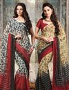 image of Fascinating Chiffon Combo of 2 Designer Sarees