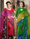 image of Pleasant Chiffon Combo of 2 Designer Sarees