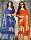 image of Fabulous Chiffon Party Wear Sarees Combo