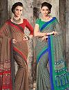 image of Fancy Chiffon Combo of 2 Party Wear Sarees