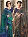 image of Intriguing Chiffon Designer Sarees Combo