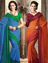 image of Enthralling Chiffon Combo of 2 Designer Sarees