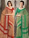 image of Seductive Chiffon Party Wear Sarees Combo