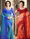 image of Enlivening Chiffon Party Wear Sarees Combo