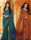 image of Adorable Casual Wear Chiffon Combo of 2 Sarees