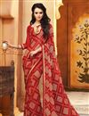 photo of Enticing Set of 2 Fancy Print Sarees in Chiffon Fabric