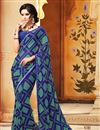 picture of Enticing Set of 2 Fancy Print Sarees in Chiffon Fabric