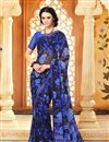 photo of Ebullient Set of 2 Fancy Print Sarees in Chiffon Fabric