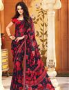 picture of Ebullient Set of 2 Fancy Print Sarees in Chiffon Fabric