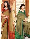 image of Charming Fancy Print Combo of 2 Sarees in Chiffon Fabric