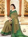picture of Charming Fancy Print Combo of 2 Sarees in Chiffon Fabric