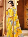 picture of Delightful Set of 2 Fancy Print Sarees in Chiffon Fabric