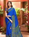 picture of Elating Combo of 6 Crepe Silk Fabric Printed Sarees