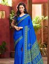photo of Stimulating Combo of 5 Crepe Silk Fabric Casual Fancy Print Sarees