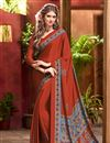 pic of Alluring Combo of 5 Crepe Silk Fabric Party Wear Sarees