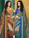 image of Fantastic Crepe Silk Fabric Printed Sarees Combo of 2