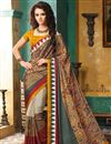photo of Fantastic Crepe Silk Fabric Printed Sarees Combo of 2