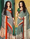 image of Soothing Combo of 2 Crepe Silk Party Wear Sarees