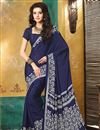 photo of Classic Crepe Silk Printed Sarees Combo of 2