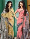 image of Delectable Combo of 2 Crepe Silk Party Wear Sarees