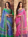 image of Enthralling Chiffon Fabric Combo of 2 Designer Sarees