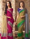 image of Intriguing Fancy Chiffon Combo of 2 Sarees