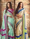 image of Soothing Chiffon Fabric Combo of 2 Sarees