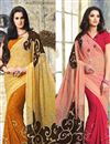 image of Dynamic Casual Wear Georgette Combo of 2 Sarees