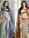 image of Trendy Combo of 2 Sarees in Georgette Fabric