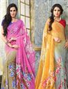 image of Attractive Set of 2 Casual Printed Georgette Sarees