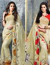 image of Stylish Combo of 2 Casual Wear Georgette Sarees