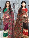 image of Elegant Set of 2 Casual Printed Georgette Sarees