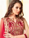 photo of Fabulous Pink-Coffee Color Georgette Designer Sari