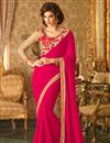 image of Pink Festive Wear Designer Georgette Saree