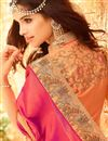 photo of Party Wear Pink Color Silk Designer Saree With Silk Unstitched Blouse