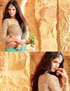 photo of Sea Green Color Designer Festive Wear Silk Saree With Border Work